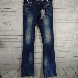 NWT Affliction Jade Black Denim Jeans sz 29